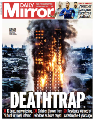 tower inferno front page