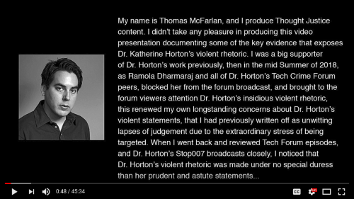 Screenshot_2018-09-02 (89) Dr Katherine Horton's Fall From Grace + Audio Commentary Documenting an Infiltrator - YouTube(1)