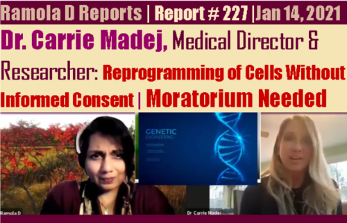 Youtube and Twitter Remove Videos, Tweets Exposing Grave Dangers of the mRNA COVID Vaccine Rad227drcarriemadejcover2